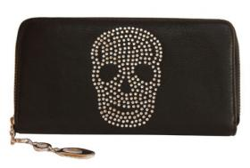 Verkaufe neues Swarovski Elements Skully Portemonnaie
