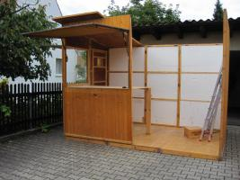 verkaufs h tte abzugeben in ingolstadt marktstand verkaufsstand. Black Bedroom Furniture Sets. Home Design Ideas