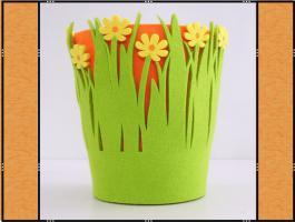 Verkleidung für Blumentopf aus Filz, Handarbeit