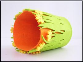 Foto 2 Verkleidung für Blumentopf aus Filz, Handarbeit