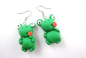Verrückter Frosch Ohrringe