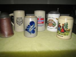 Foto 6 Verschiedene Bierkrüge