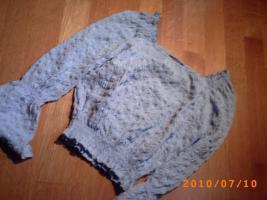 Verspielt-romantische hellblaue Bluse, Gr. S
