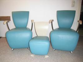 Vier Designerstühle der Marke Dauphin Modell Bobo