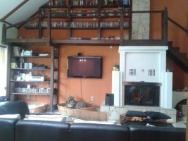 Wohnzimmer Mit Kamin Und Galerie