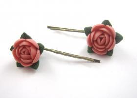 Vintage Rosen Haarspangen