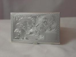 Visitenkartenetui 9,5x5,5 cm, SterlingSilber / EchtSilber 925