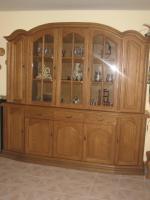 vitrine und eckvitrine eiche rustikal massiv in gommersheim von privat. Black Bedroom Furniture Sets. Home Design Ideas