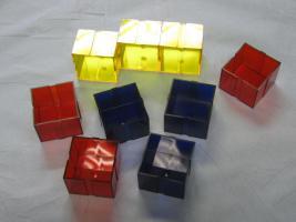 Vitrinen Setzkasten erweiterbare Boxen 30 Stück