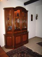 Foto 3 Vitrinenschrank Nußbaum Antik, mit Intarsien, Bleiglas, Beleuchtung, TOP Zustand