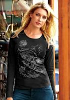 Vivance - Shirt mit Strass schwarz Gr. 38 - OVP - NEU