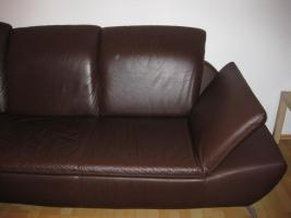 Foto 4 Voll-Leder Braun Element Sofa + Schlafm�glichkeit NP 2035� 3J. Rechnung vorhanden