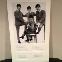 Vollständiger Satz authentischen Beatles Autogramme zertifiziert und authentische 1963 gerahmt