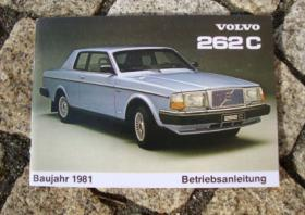 Volvo 262 C Bertone Coupé Betriebsanleitung 1981