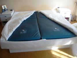 WASSERBETT SOFTSIDE AQUA STANDARD 180X200 cm incl 2 Nachtkästchen in weiß!
