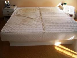 Foto 2 WASSERBETT SOFTSIDE AQUA STANDARD 180X200 cm incl 2 Nachtkästchen in weiß!