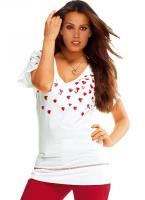 WE LOVE - Herzchenshirt weiß-rot Gr. 38 - OVP - NEU
