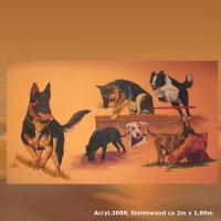 Foto 4 WESTERN-ART , Pferdeportrait und Tierportrait / Malerei auf LEDER und LEDERJACKEN