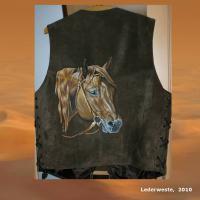 Foto 9 WESTERN-ART , Pferdeportrait und Tierportrait / Malerei auf LEDER und LEDERJACKEN