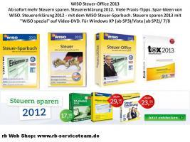 WISO Steuer-Sparbuch 2013 in der DVD-Box (für Steuerjahr 2012)