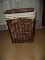 Wäsche-Korb, geflochten, mit Stoffeinsatz herausnehmbar