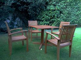 Foto 3 Wahlweise 2x komplette Gatenmöbelset- Massiver Holz
