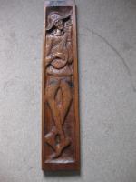Wandbild Harlekin in Eiche geschnitzt
