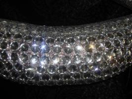 Foto 3 Wanddeko, Mund silber mit Kristallen