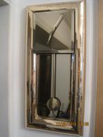 Wanduhr, messing/Spiegelglas