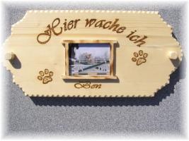 Foto 2 Warnschild aus Holz und mit Foto von deinem Liebling