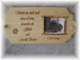 Foto 4 Warnschild aus Holz und mit Foto von deinem Liebling