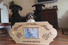 Foto 5 Warnschild aus Holz und mit Foto von deinem Liebling