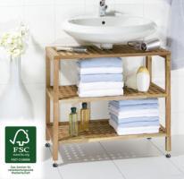 Waschbeckenunterregal Nordic, FSC zertifiziert von WENKO