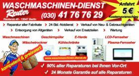 Waschmaschinen Reparatur Kundendienst Reuter|030/60505588 Vorort reparaturen.