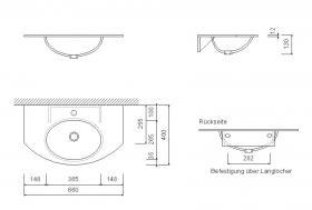 Foto 3 Waschtisch Waschbecken Corian Design Farbe nach Wahl