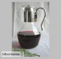 Wasser, Wein Karaffe Design 1,5 L, versilbert / SILBER plated