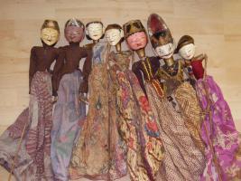 Foto 9 Wayan Golek Stabfiguren-Sammlung 7 Figuren