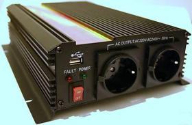 Wechselrichter - Spannungswandler 12V 1500/3000 Watt