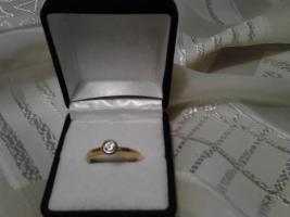 Weihnachtsgeschenk in letzter Minute? Biete einen goldenen Ring (585) mit 0,5 Karat Diamant