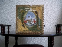 Weihnachtskerze und Karte
