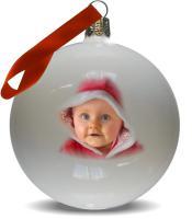 Weihnachtskugel mit Foto bedruckt