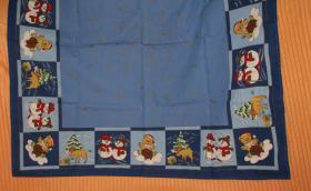Weihnachtsmittel-Tischdecke