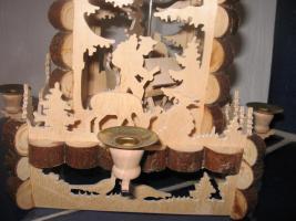 Foto 2 Weihnachtspyramide-Erzgebirgskunst Feinste Laubsägearbeit- 45 cm