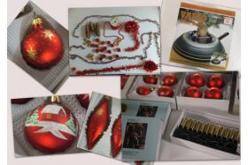 Weihnachtsschmuck Rundum Sorglos Paket alles in Rot