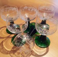 Weinglas Original Römer mit grünem Fuß, 6 Stück