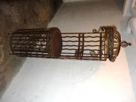 Foto 10 Weinregal mit Flügeltür (Antiklook Schmiedeeisen)