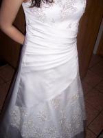Weisses Hochzeitskleid mit Spitze, 40