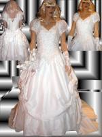 Wei�es, verspieltes, romantisches Brautkleid Gr. 40- Artikelzustand: Gebraucht und gereinigt.