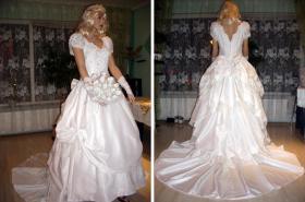 Foto 2 Wei�es, verspieltes, romantisches Brautkleid Gr. 40- Artikelzustand: Gebraucht und gereinigt.