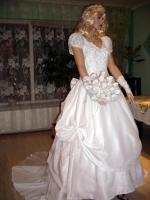 Foto 4 Wei�es, verspieltes, romantisches Brautkleid Gr. 40- Artikelzustand: Gebraucht und gereinigt.